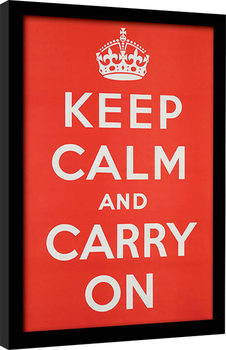 Keep Calm and Carry On Kehystetty juliste
