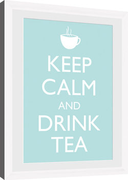 Keep Calm - Tea (White) Kehystetty juliste