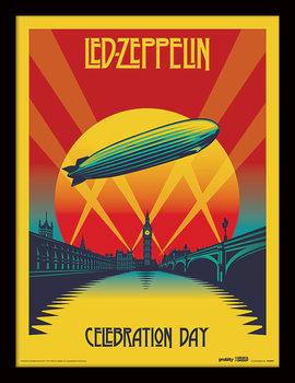 Led Zeppelin - Celebration Day Kehystetty juliste