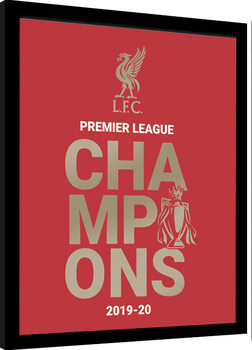 Kehystetty juliste Liverpool FC - Champions 19/20
