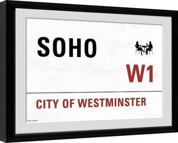 London - Soho Kehystetty juliste