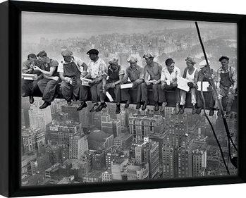 Lunch on a Skyscraper Kehystetty juliste