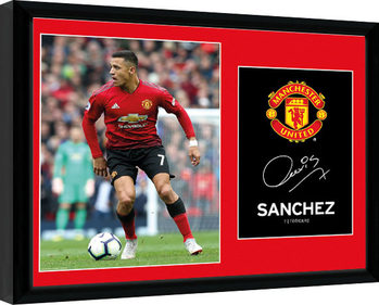 Manchester United - Sanchez 18-19 Kehystetty juliste