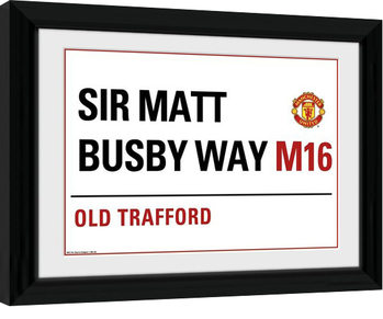Manchester United - Street Sign Kehystetty juliste