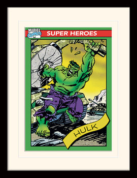 Marvel Comics - Hulk Trading Card Kehystetty juliste