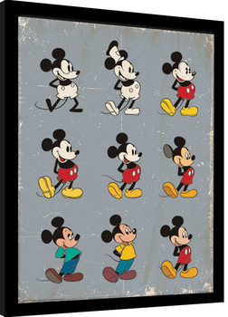 Mickey Mouse - Evolution Kehystetty juliste