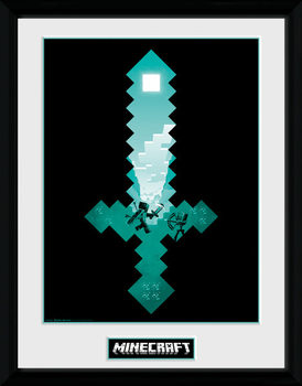 Minecraft - Diamond Sword kehystetty lasitettu juliste