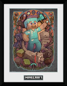 Minecraft - Steve Nouveau Kehystetty juliste