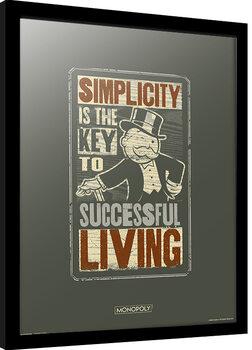 Kehystetty juliste Monopoly - Simplicity