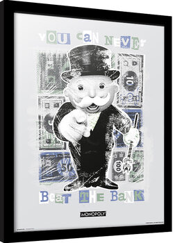 Kehystetty juliste Monopoly - You Can Never Beat The Bank