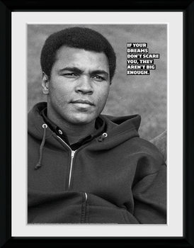 Muhammad Ali - Dreams kehystetty lasitettu juliste