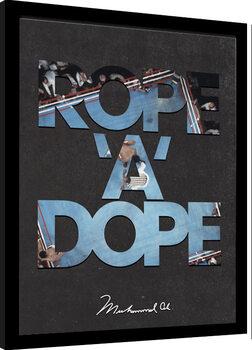 Kehystetty juliste Muhammad Ali - Rope A Dope