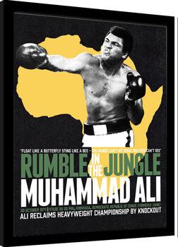 Kehystetty juliste Muhammad Ali - Rumble in the Jungle