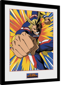 My Hero Academia - All Might Action Kehystetty juliste