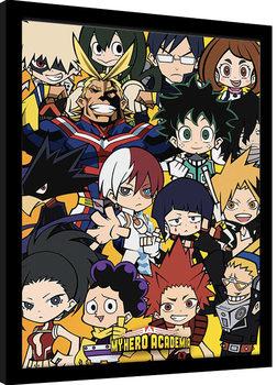 Kehystetty juliste My Hero Academia - Chibi Characters