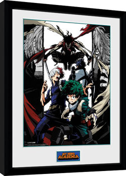 Kehystetty juliste My Hero Academia - Heroes and Villains