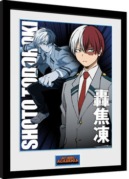 Kehystetty juliste My Hero Academia - Shoto Todorki