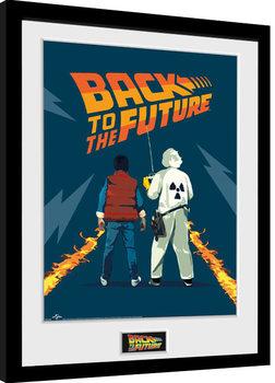 Paluu tulevaisuuteen osa - Doc and Marty Kehystetty juliste