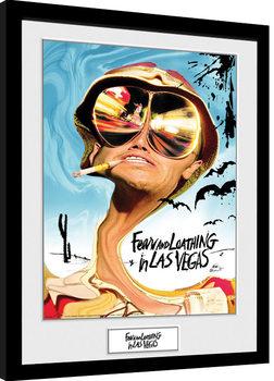 Pelkoa ja inhoa Las Vegasissa - Key Art Kehystetty juliste