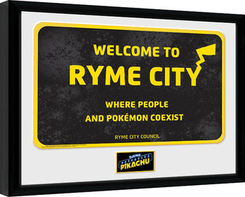 Pokemon: Detective Pikachu - Ryme City Kehystetty juliste