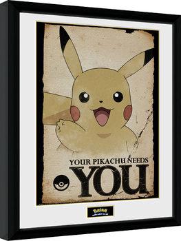 Pokemon - Pikachu Needs You Kehystetty juliste