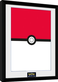 Pokemon - Pokeball Kehystetty juliste