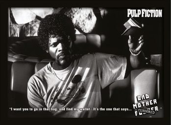 PULP FICTION - bad mother fuck Kehystetty juliste