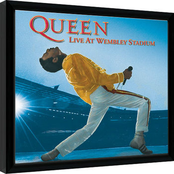 Queen - Live At Wembley Kehystetty juliste