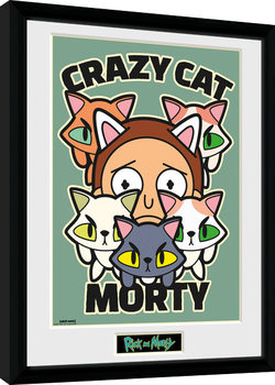 Rick and Morty - Crazy Cat Morty Kehystetty juliste