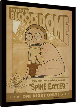 Rick and Morty - Enter The Blood Dome Kehystetty juliste