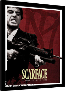 Scarface - Blood Red Kehystetty juliste