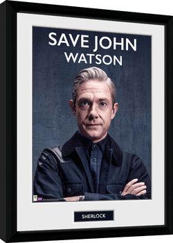 Sherlock - Save John Watson Kehystetty juliste