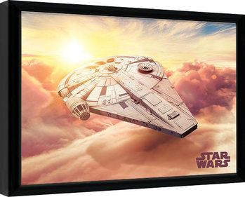 Solo: A Star Wars Story - Millennium Falcon Kehystetty juliste