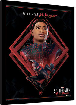 Kehystetty juliste Spider-Man Miles Morales - Be Greater