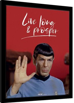 Kehystetty juliste Star Trek - Live Long and Prosper