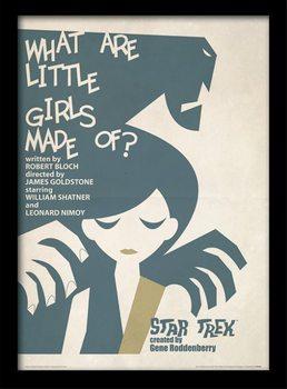 Star Trek - What Are Little Girls Made Of? Kehystetty juliste