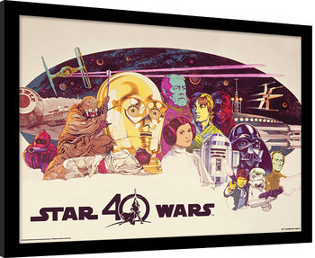 Star Wars 40th Anniversary - Characters Horizontal Kehystetty juliste