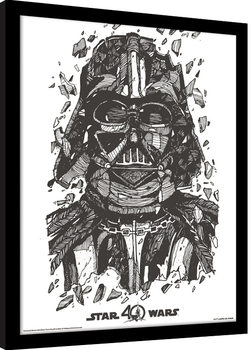 Star Wars 40th Anniversary - Darth Vader Kehystetty juliste