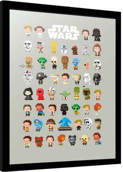 Kehystetty juliste Star Wars - 8-Bit Characters
