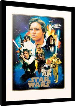 Kehystetty juliste Star Wars - Heroes