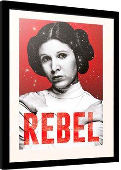 Kehystetty juliste Star Wars - Leia Rebel