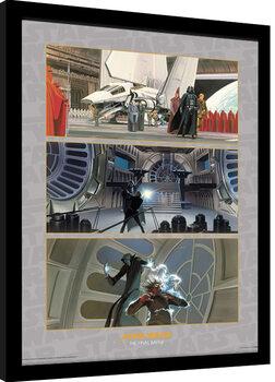 Kehystetty juliste Star Wars - The Final Battle
