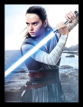 Star Wars: The Last Jedi- Rey Engage Kehystetty juliste