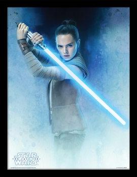 Star Wars: The Last Jedi- Rey Lightsaber Guard Kehystetty juliste