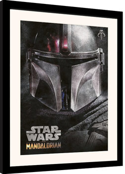 Kehystetty juliste Star Wars: The Mandalorian - Helmet