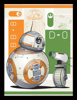 Star Wars: The Rise of Skywalker - BB8 And D-O Kehystetty juliste