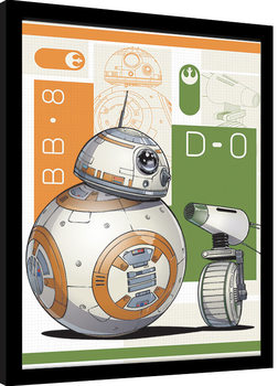 Kehystetty juliste Star Wars: The Rise of Skywalker - BB8 And D-O