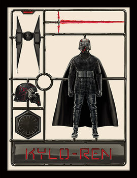 Star Wars: The Rise of Skywalker - Kylo Ren Model Kehystetty juliste