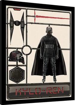 Kehystetty juliste Star Wars: The Rise of Skywalker - Kylo Ren Model