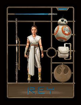 Star Wars: The Rise of Skywalker - Rey Model Kehystetty juliste